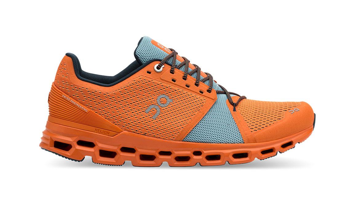 Men's On Cloudstratus Running Shoe - Color: Orange/Wash (Regular Width) - Size: 10, Orange/Blue, large, image 1