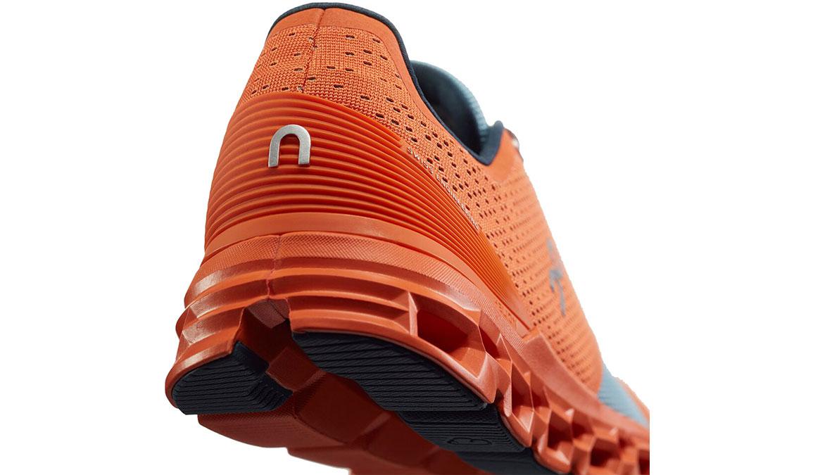 Men's On Cloudstratus Running Shoe - Color: Orange/Wash (Regular Width) - Size: 10, Orange/Blue, large, image 4