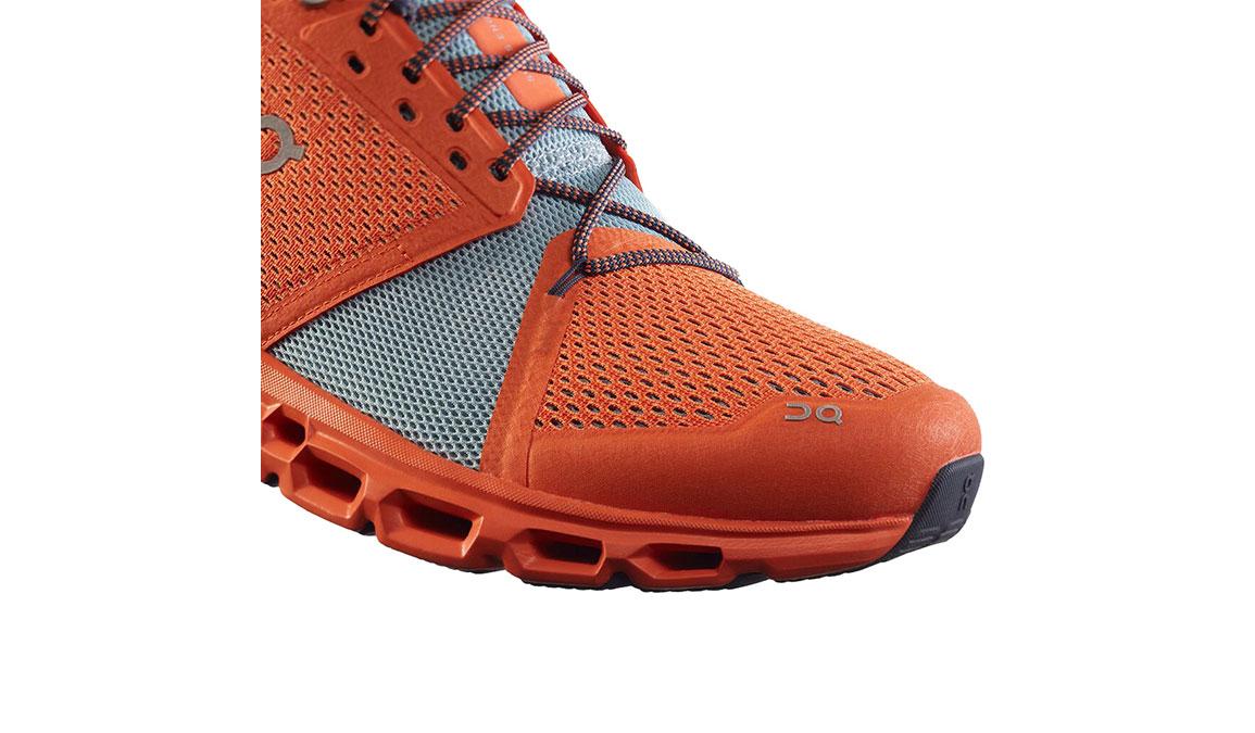Men's On Cloudstratus Running Shoe - Color: Orange/Wash (Regular Width) - Size: 10, Orange/Blue, large, image 2