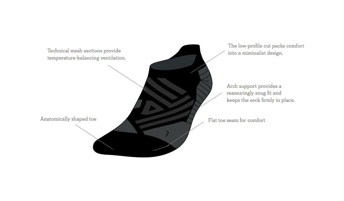 Men's On Low Sock - Color: Black Shadow Size: M, Black, large, image 4
