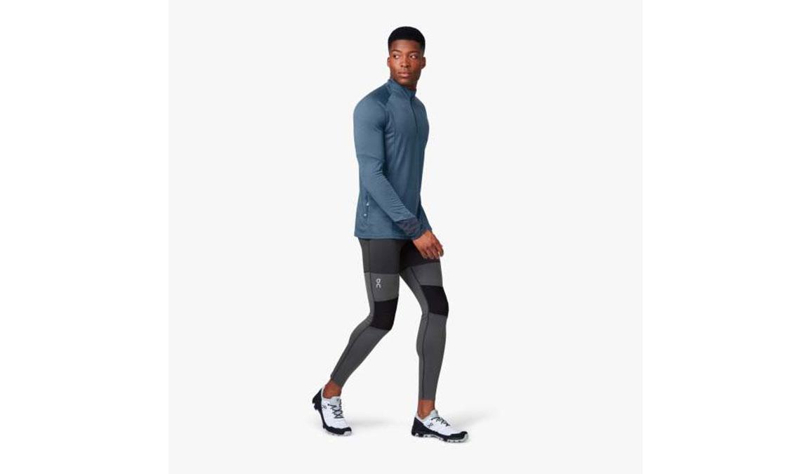 Men's On Tights Long  - Color: Black/Shadow Size: S, Black/Grey, large, image 2