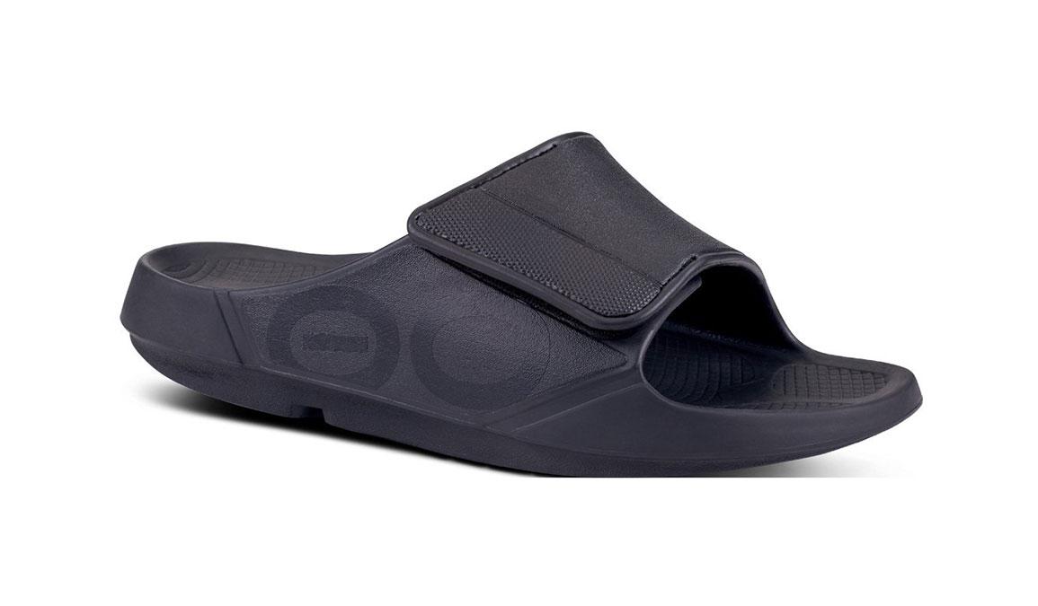 Oofos OOahh Sport Flex Recovery Sandal - Color: Black/Matte (Regular Width) - Size: M11/W13, Black/Matte, large, image 1