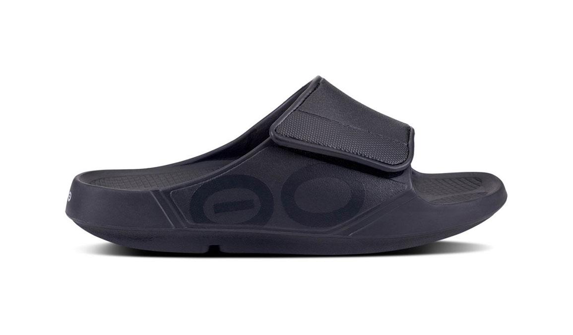 Oofos OOahh Sport Flex Recovery Sandal - Color: Black/Matte (Regular Width) - Size: M11/W13, Black/Matte, large, image 2