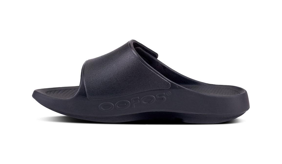 Oofos OOahh Sport Flex Recovery Sandal - Color: Black/Matte (Regular Width) - Size: M11/W13, Black/Matte, large, image 3