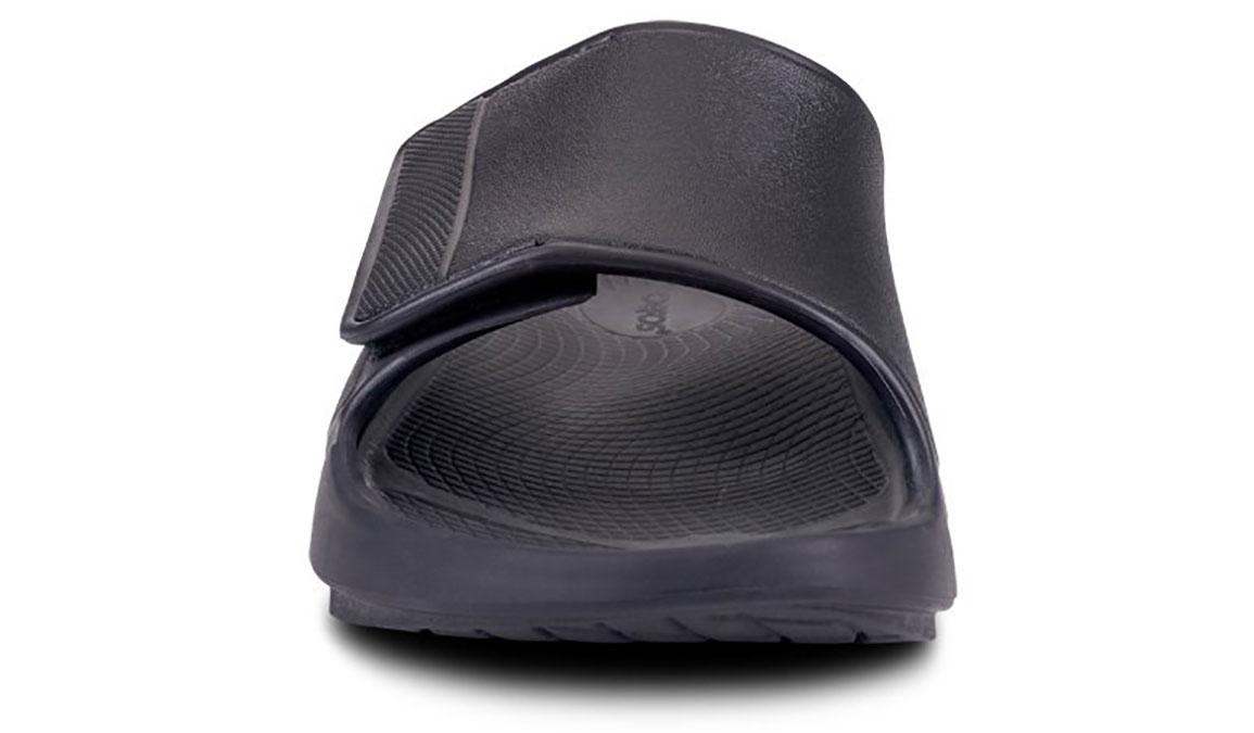 Oofos OOahh Sport Flex Recovery Sandal - Color: Black/Matte (Regular Width) - Size: M11/W13, Black/Matte, large, image 4