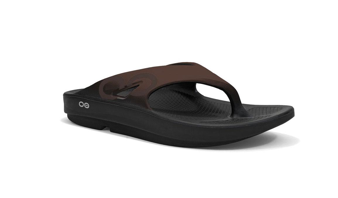 Oofos OOriginal Sport Recovery Sandal - Color: Black/Brown - Size: M9/W11 - Width: Regular, Black/Brown, large, image 1