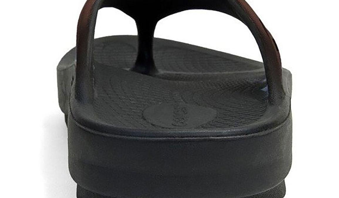 Oofos OOriginal Sport Recovery Sandal - Color: Black/Brown - Size: M9/W11 - Width: Regular, Black/Brown, large, image 3