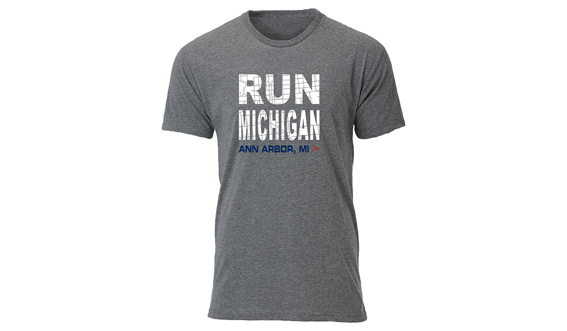 Men's Ouray Run Michigan Ann Arbor Tee - Color: Heather Size: L, Heather, large, image 1