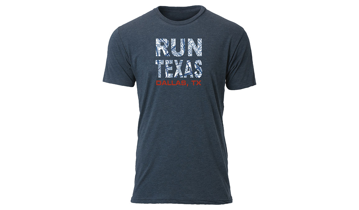 Men's Ouray Run Texas Map T-Shirt - Color: Vintage Navy Size: M, Navy, large, image 1