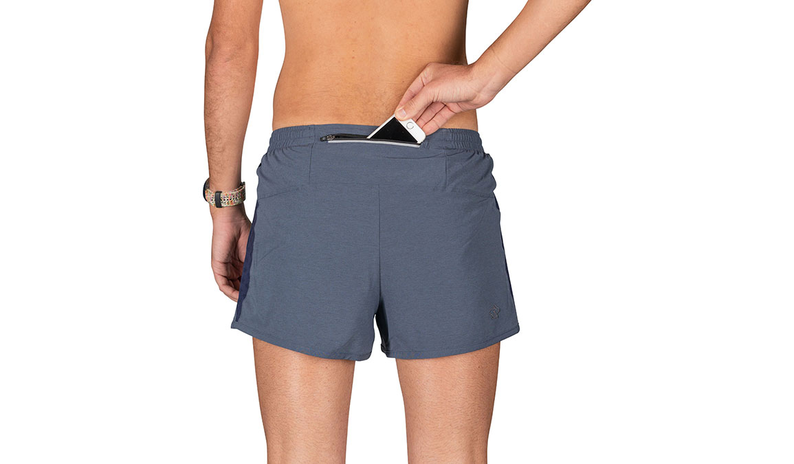 "Men's Rabbit Daisy Dukes 2.0 3"" Short - Color: Dress Blues Hea Size: S, Grey, large, image 3"