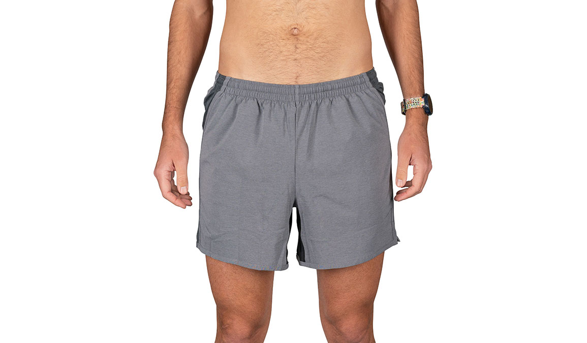 "Men's Rabbit Quadbangers 5"" Short - Color: Black Charcoal Size: S, Grey, large, image 1"