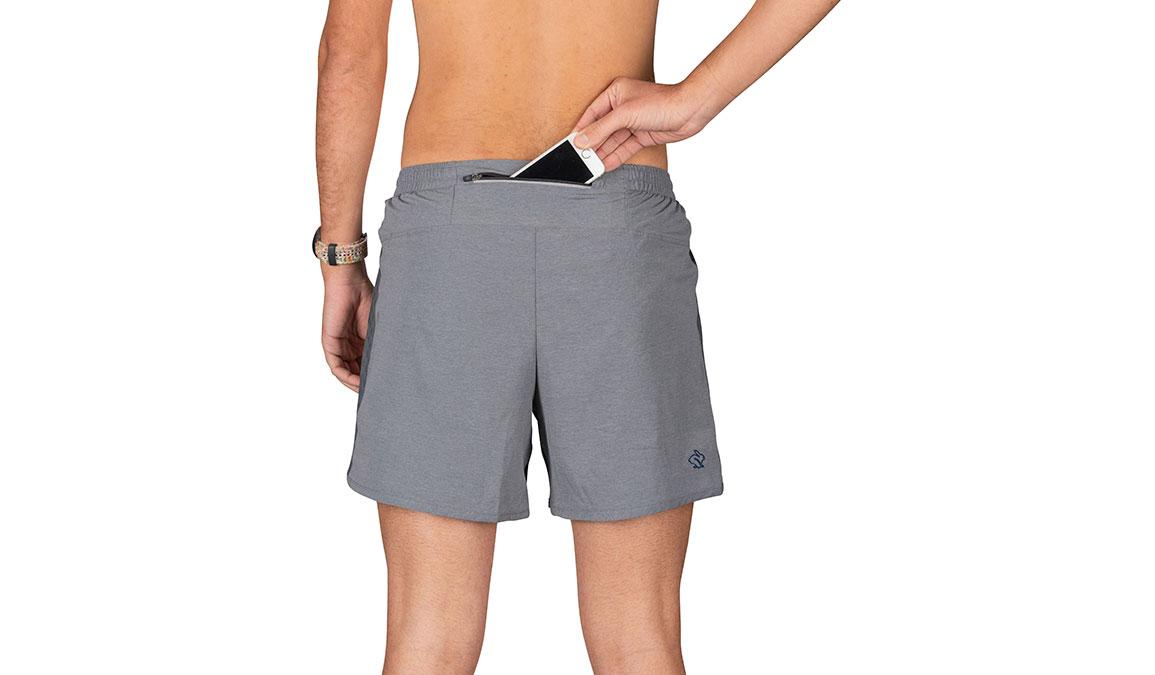"Men's Rabbit Quadbangers 5"" Short - Color: Black Charcoal Size: S, Grey, large, image 3"
