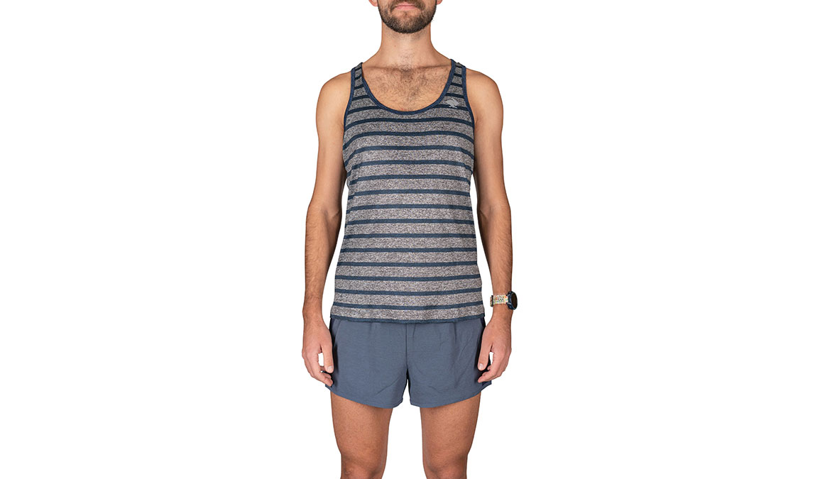 Men's Rabbit Welcome To The Gun Show Tank - Color: Grey/Blue Strip Size: S, Grey, large, image 1