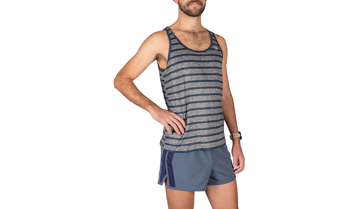 Men's Rabbit Welcome To The Gun Show Tank - Color: Grey/Blue Strip Size: S, Grey, large, image 2