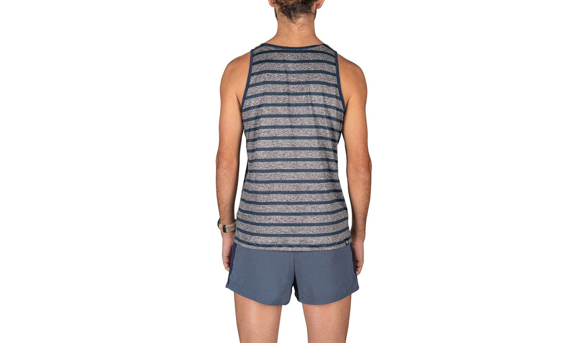 Men's Rabbit Welcome To The Gun Show Tank - Color: Grey/Blue Strip Size: S, Grey, large, image 3