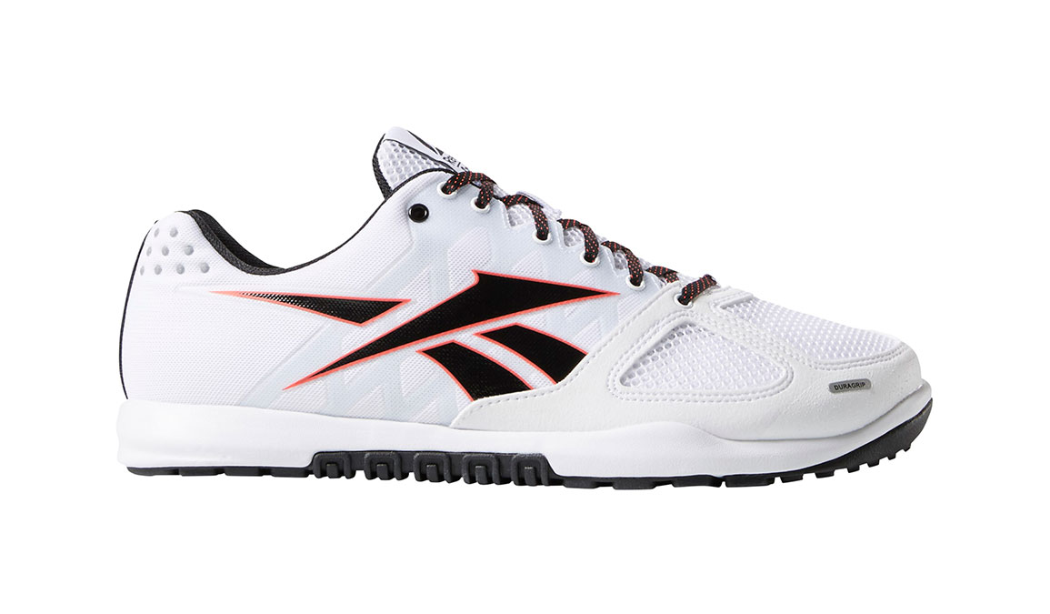 Men's Reebok Crossfit Nano 2.0 Training Shoes - Color: White/Black/Red (Regular Width) - Size: 12, White/Black, large, image 1