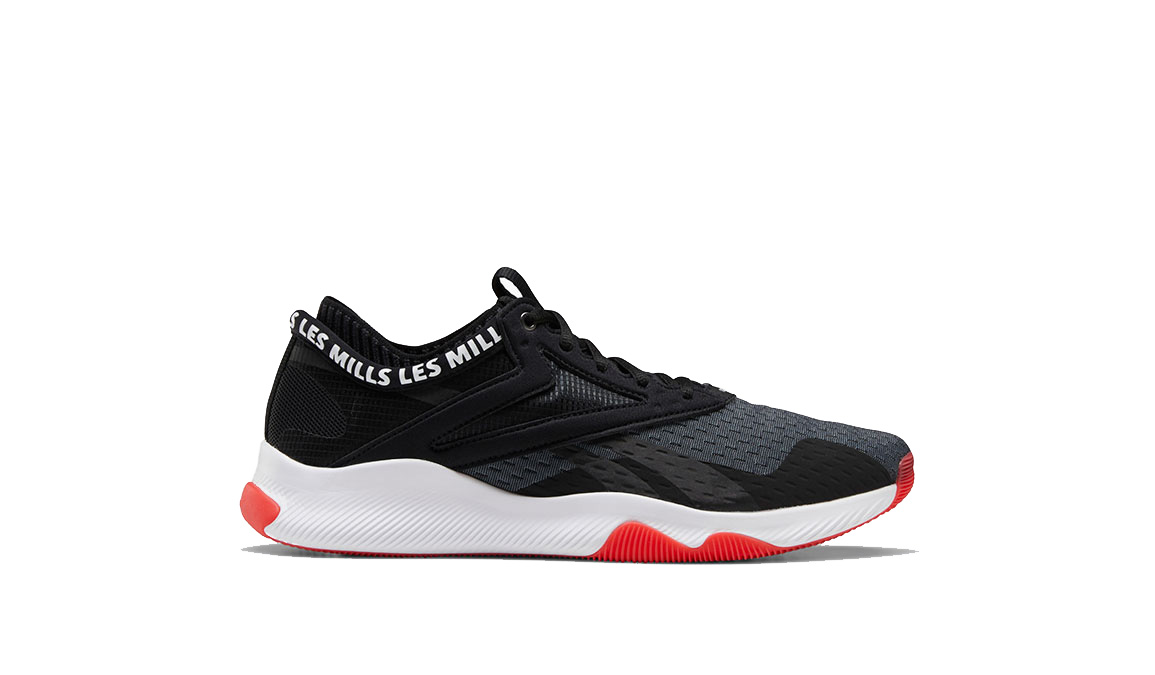 Men's Reebok HIIT TR LM Training Shoes - Color: Black/White/Rad (Regular Width) - Size: 6, Black/White, large, image 1
