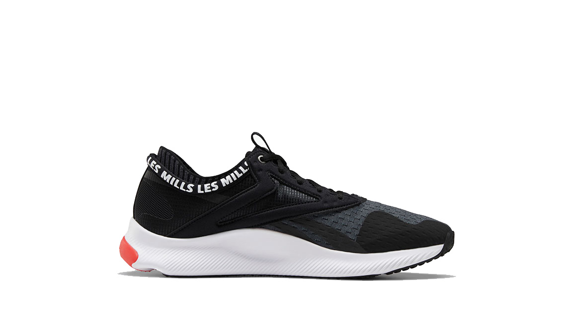 Men's Reebok HIIT TR LM Training Shoes - Color: Black/White/Rad (Regular Width) - Size: 6, Black/White, large, image 2