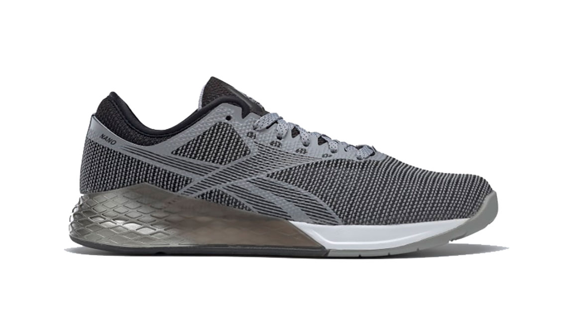 Men's Reebok Nano 9 Training Shoes - Color: Cool Shadow/Black/White (Regular Width) - Size: 8, Grey/White, large, image 1