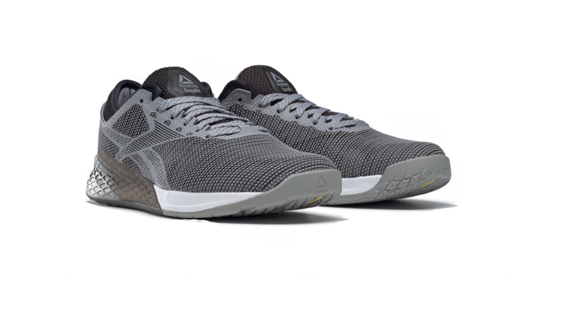 Men's Reebok Nano 9 Training Shoes - Color: Cool Shadow/Black/White (Regular Width) - Size: 8, Grey/White, large, image 3