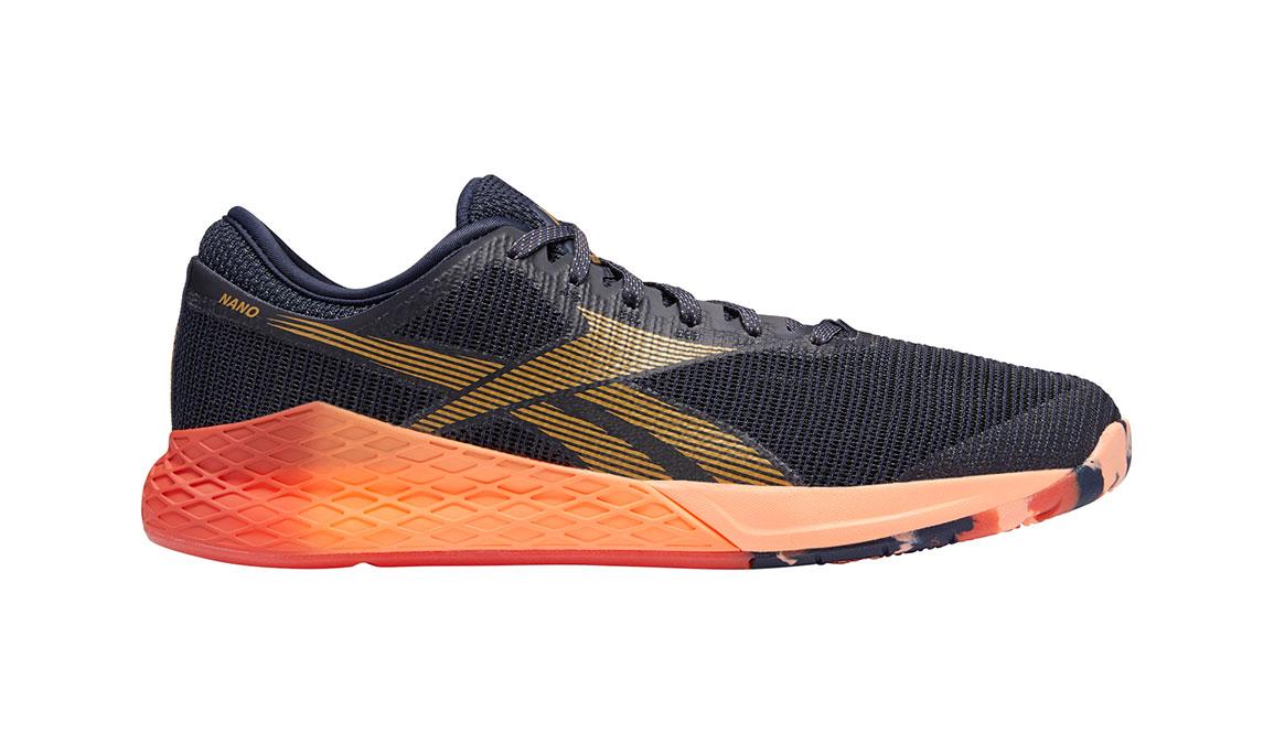 Men's Reebok Nano 9 Training Shoes - Color: Heritage Navy/Rosette (Regular Width) - Size: 7, Navy/Red, large, image 1