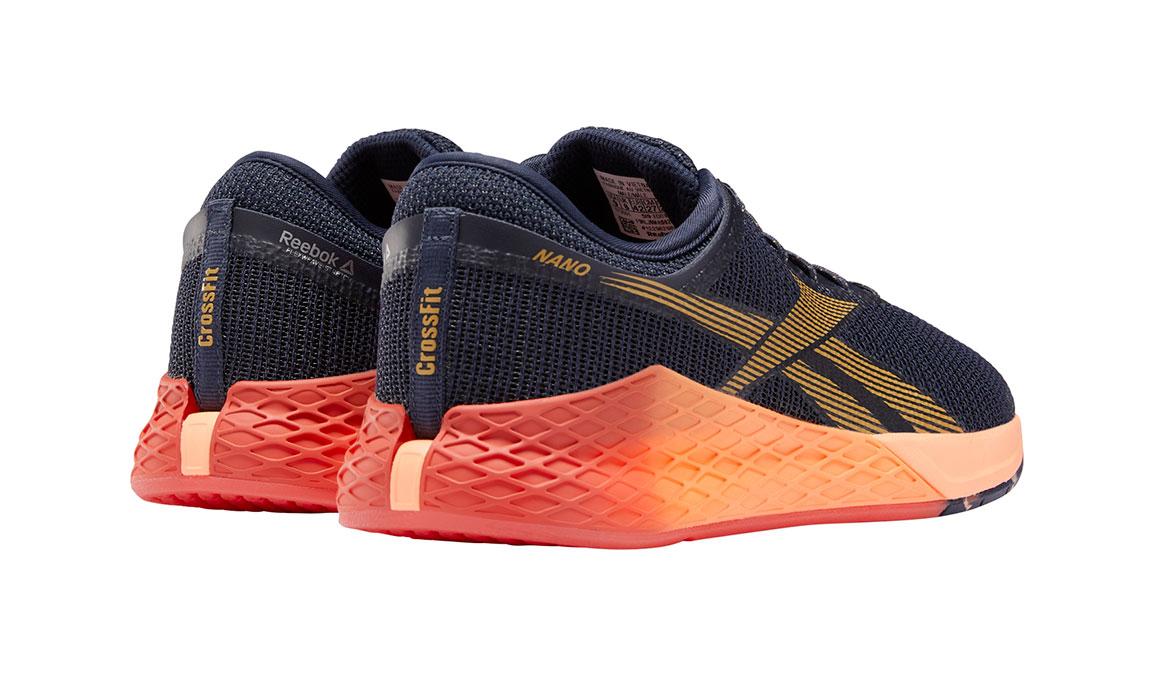 Men's Reebok Nano 9 Training Shoes - Color: Heritage Navy/Rosette (Regular Width) - Size: 7, Navy/Red, large, image 3