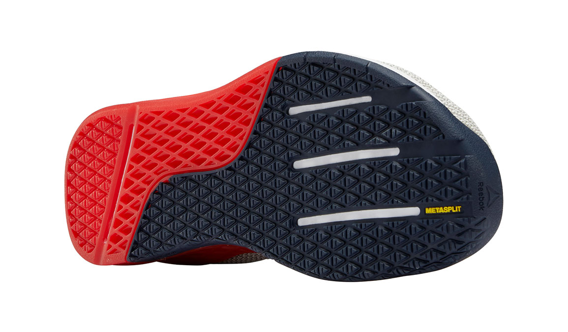 Men's Reebok Nano 9 Training Shoes - Color: White/Primal Red (Regular Width) - Size: 10.5, White/Red, large, image 3