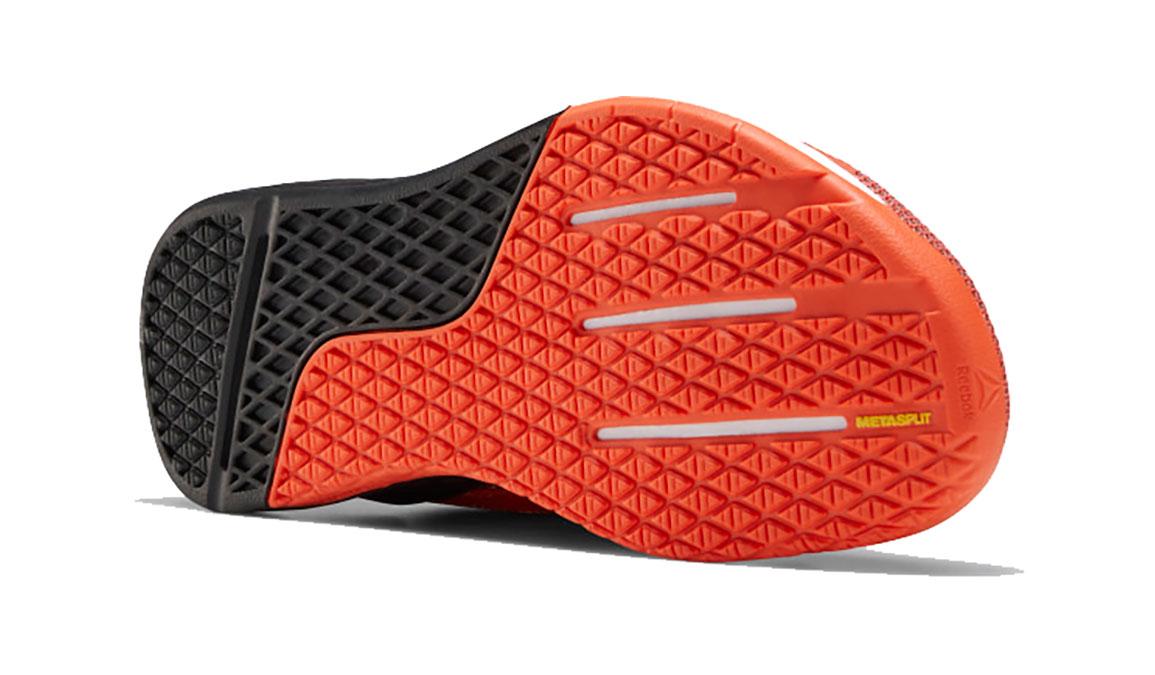 Men's Reebok Nano X Running Shoe - Color: Vivid Orange/Black/White  (Regular Width) - Size: 8, Black/Orange, large, image 4