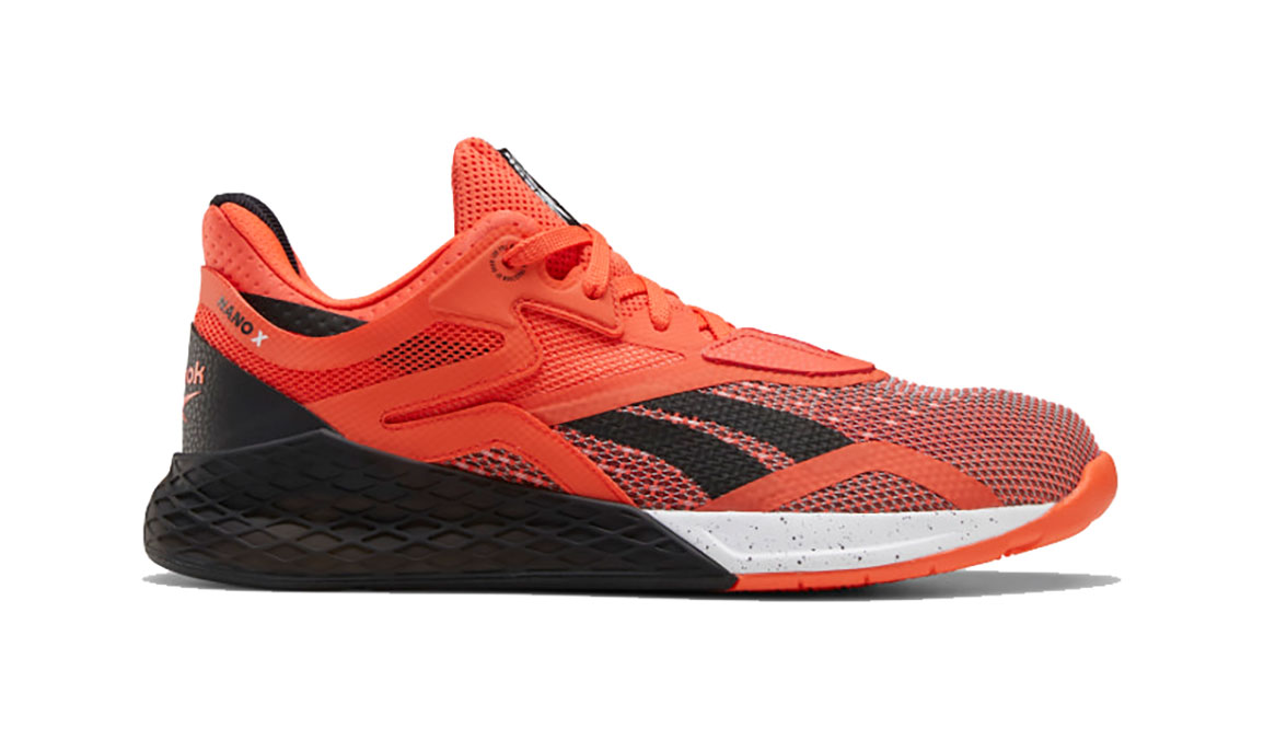Men's Reebok Nano X Training Shoe - Color: Vivid Orange/Black/White (Regular Width) - Size: 8, Black/Orange, large, image 1