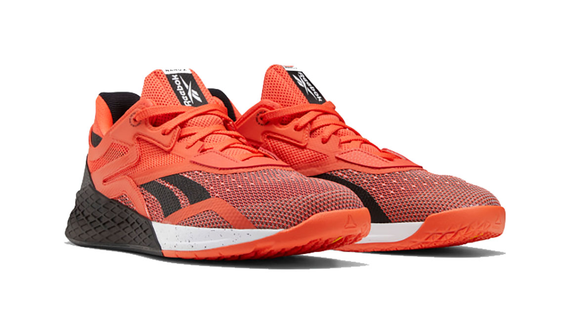 Men's Reebok Nano X Training Shoe - Color: Vivid Orange/Black/White (Regular Width) - Size: 8, Black/Orange, large, image 3