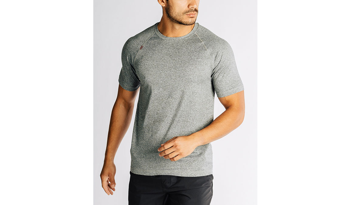 Men's Rhone Reign Short Sleeve - Color: Legacy Grey Size: S, Grey, large, image 1