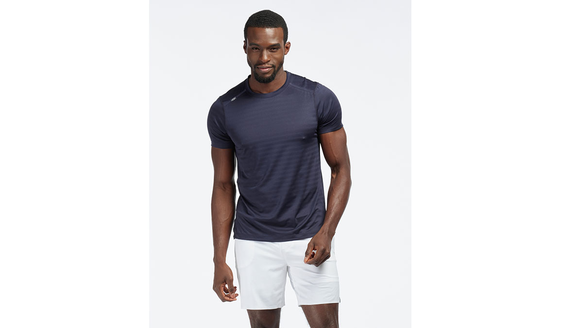 Men's Rhone Swift Short Sleeve - Color: Maritime Size: S, Dark Blue, large, image 1