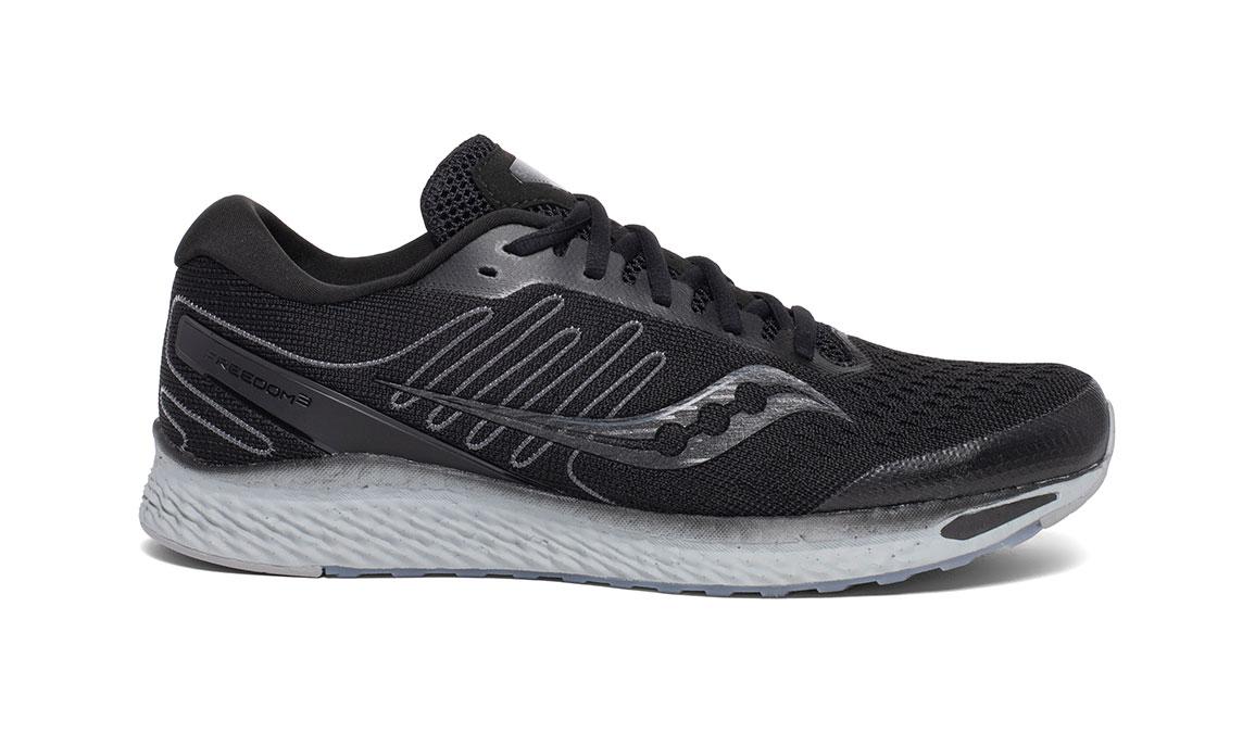 Men's Saucony Freedom 3 Running Shoe - Color: Blackout (Regular Width) - Size: 9, Black, large, image 1