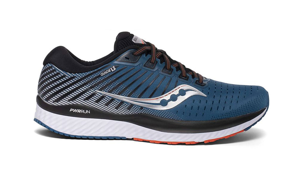 Men's Saucony Guide 13 Running Shoe - Color: Blue/Silver (Regular Width) - Size: 14, Blue/Silver, large, image 1