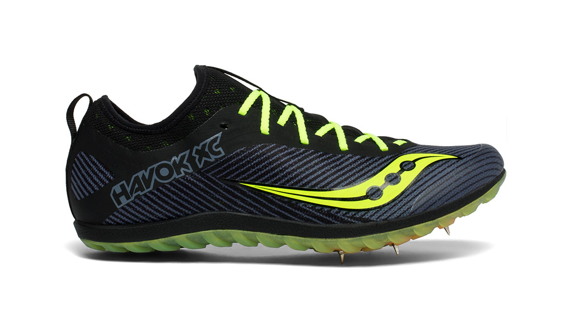 Men's Saucony Havok XC 2 Spike - Color: Black/Citron (Regular Width) - Size: 12, Black/Yellow, large, image 1