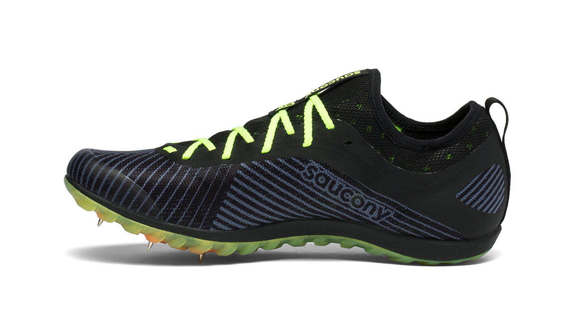 Men's Saucony Havok XC 2 Spike - Color: Black/Citron (Regular Width) - Size: 12, Black/Yellow, large, image 2