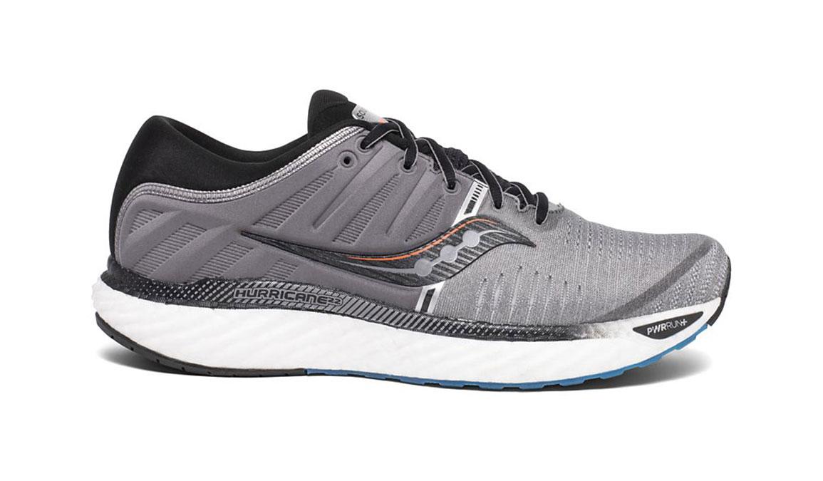 Men's Saucony Hurricane 22 Running Shoe - Color: Grey/Black (Regular Width) - Size: 7, Grey/Black, large, image 1