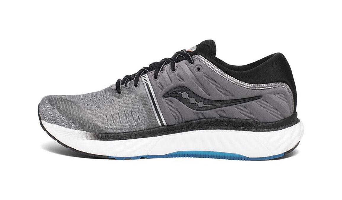 Men's Saucony Hurricane 22 Running Shoe - Color: Grey/Black (Regular Width) - Size: 7, Grey/Black, large, image 2