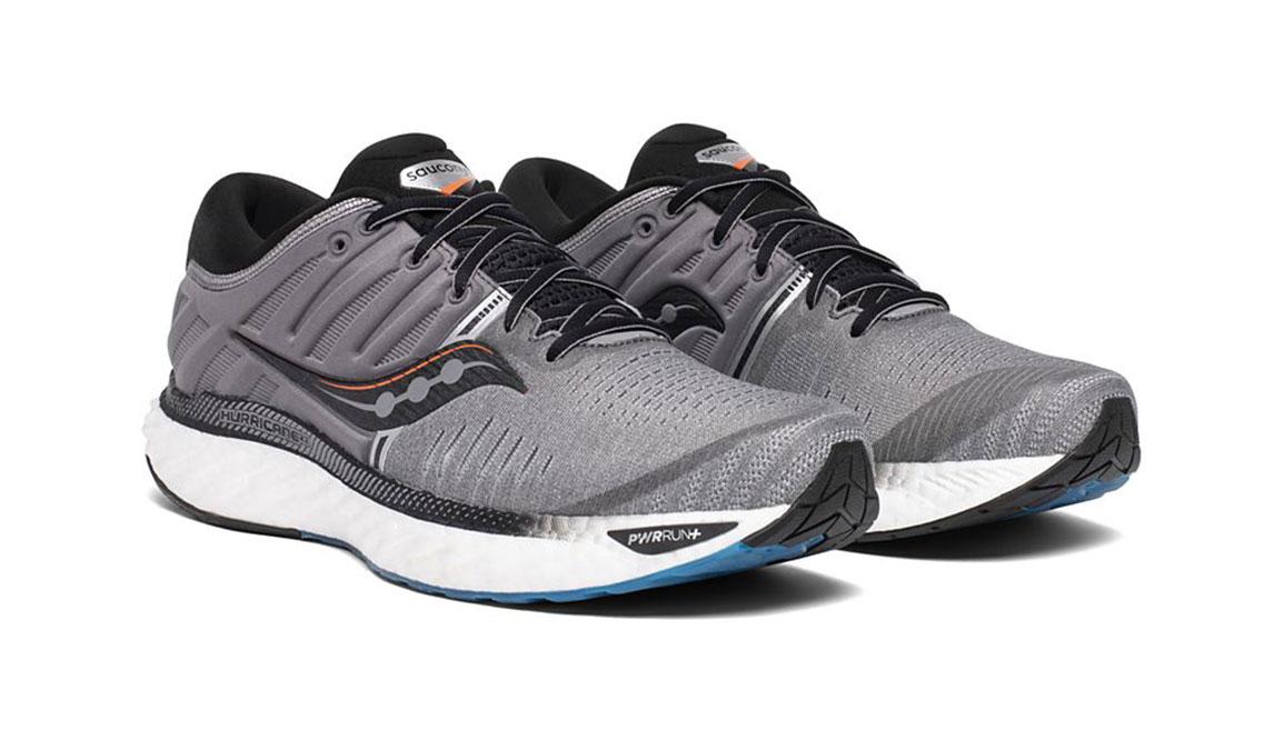 Men's Saucony Hurricane 22 Running Shoe - Color: Grey/Black (Regular Width) - Size: 7, Grey/Black, large, image 5