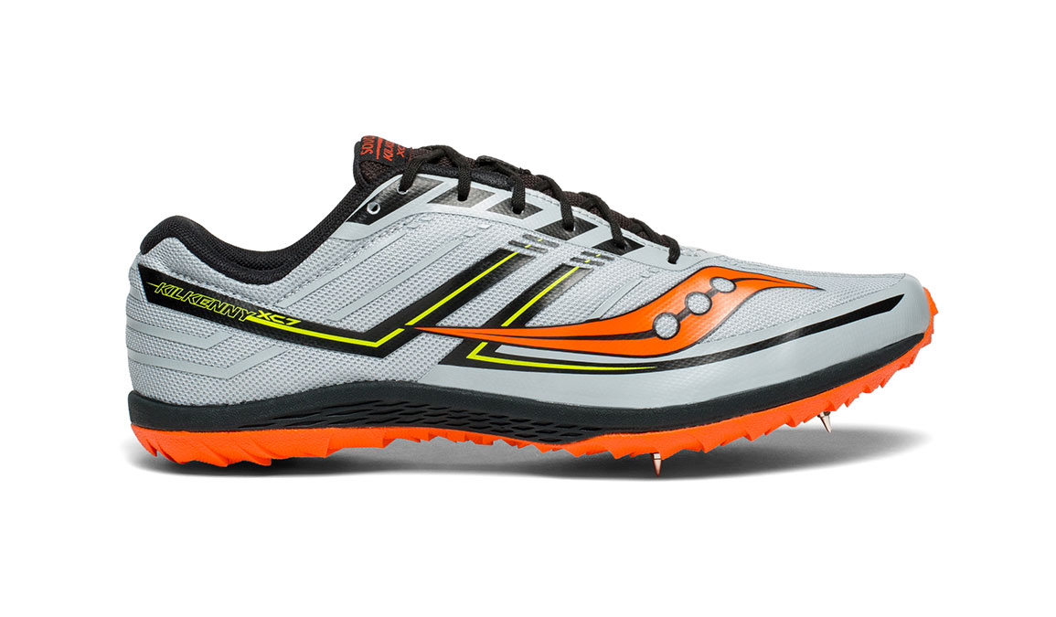 Men's Saucony Kilkenny XC7 Spike - Color: Grey/Black/Orange (Regular Width) - Size: 10, Grey/Black, large, image 1
