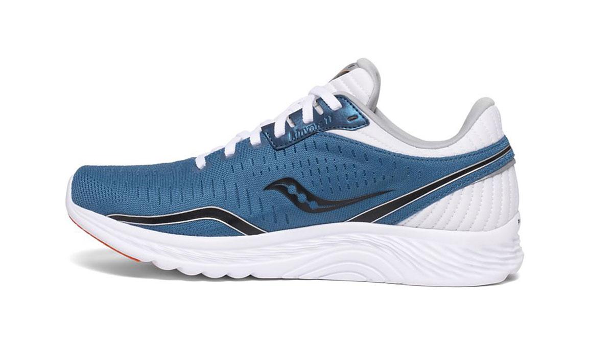 Men's Saucony Kinvara 11 Running Shoe - Color: Blue/Black (Regular Width) - Size: 12, Blue/Black, large, image 2