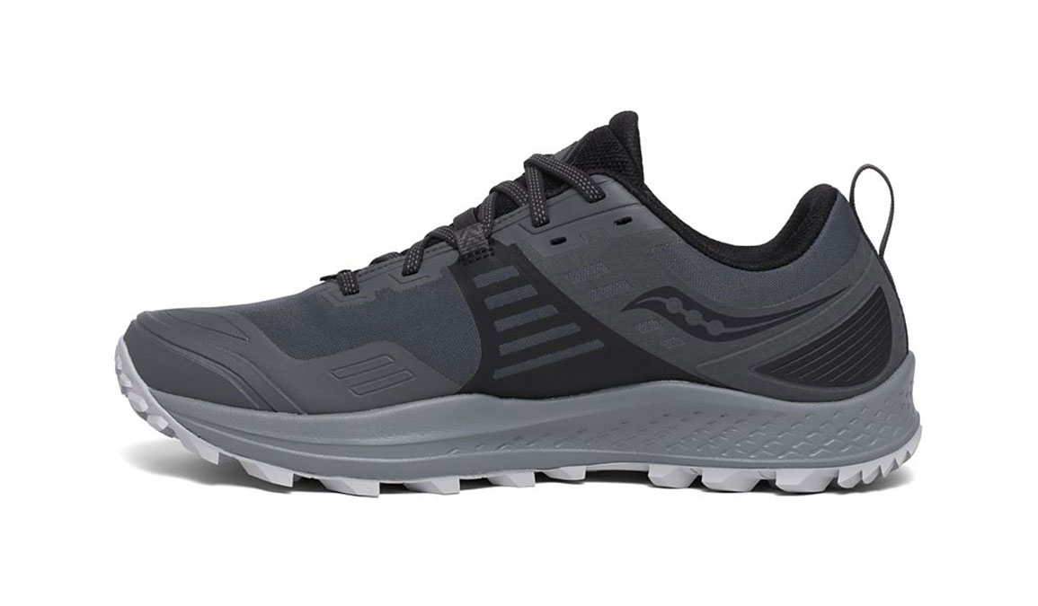 Men's Saucony Peregrine 10 Gore-Tex Trail Running Shoe - Color: Grey/Black (Regular Width) - Size: 8.5, Grey/Black, large, image 2