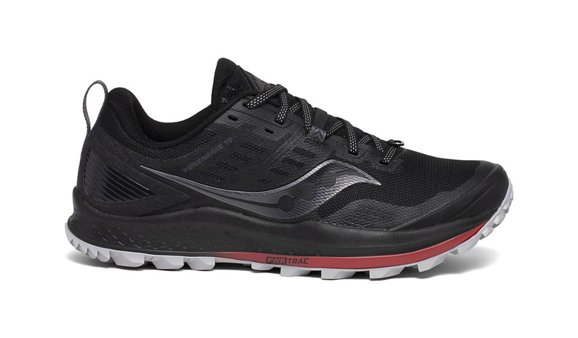Men's Saucony Peregrine 10 Trail Running Shoe - Color: Black/Red (Regular Width) - Size: 8, Black/Red, large, image 1