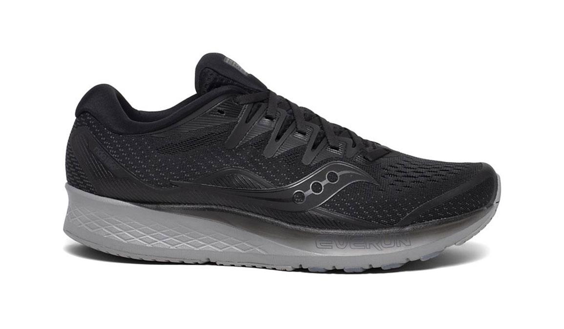 Men's Saucony Ride ISO 2 Running Shoe - Color: Blackout (Regular Width) - Size: 7, Black, large, image 1