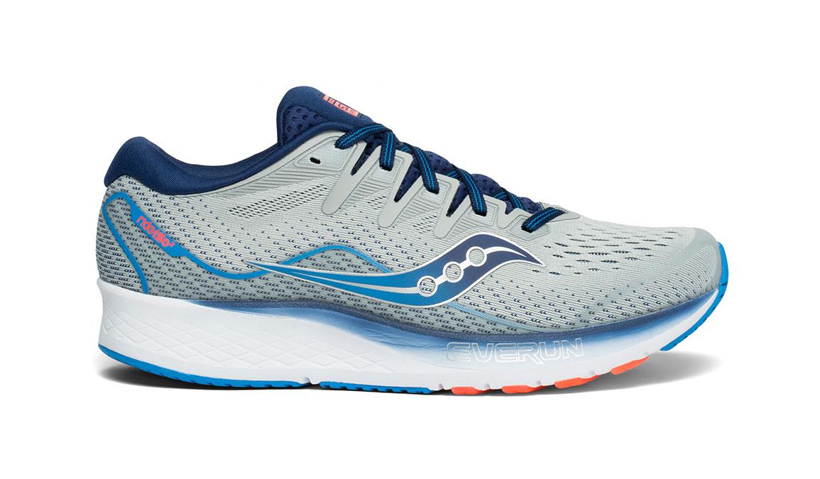 Men's Saucony Ride ISO 2 Running Shoe - Color: Grey/Blue (Regular Width) - Size: 11.5, Grey/Blue, large, image 1