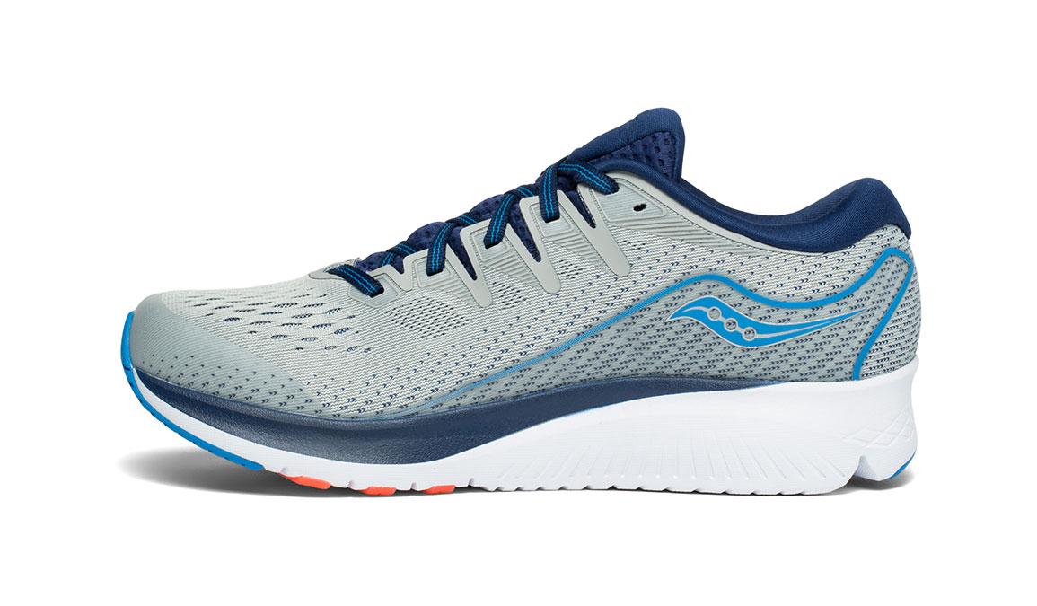 Men's Saucony Ride ISO 2 Running Shoe - Color: Grey/Blue (Regular Width) - Size: 11.5, Grey/Blue, large, image 2