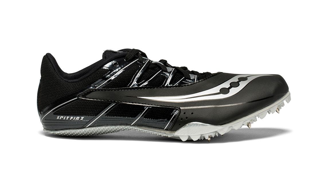 Men's Saucony Spitfire 4 Track Spike - Color: Black/Silver (Regular Width) - Size: 10, Black/Silver, large, image 1