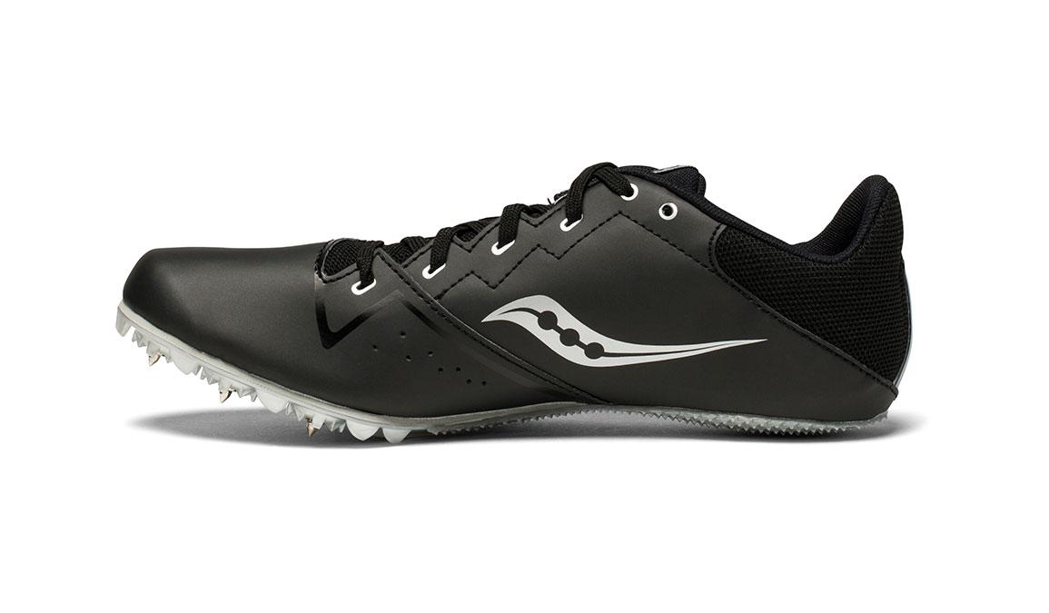 Men's Saucony Spitfire 4 Track Spike - Color: Black/Silver (Regular Width) - Size: 10, Black/Silver, large, image 2