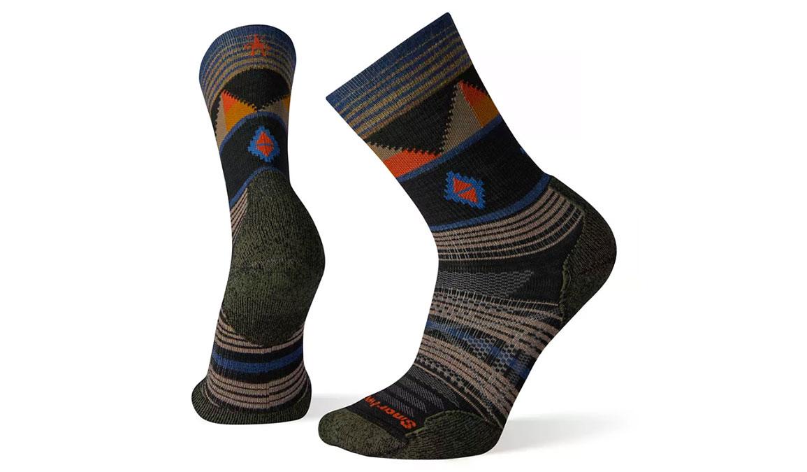 Men's Smartwool PhD Outdoor Light Pattern Hiking Crew Socks - Color: Black Size: M, Black, large, image 1