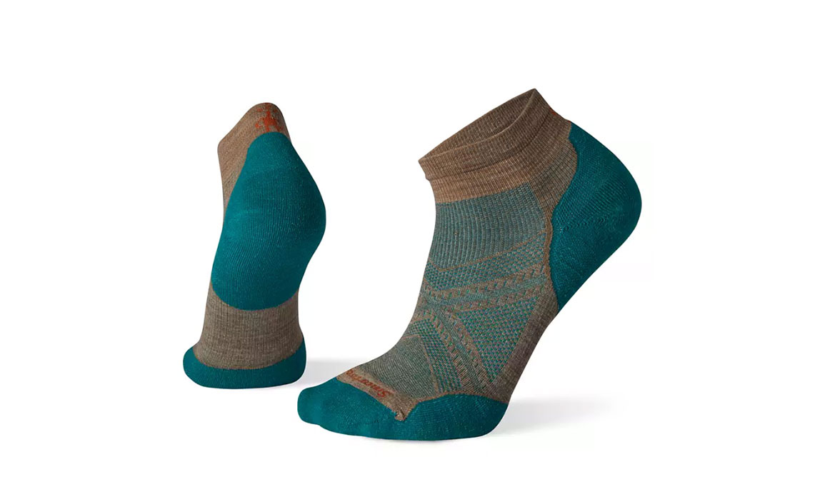 Men's Smartwool PhD Run Light Elite Low Cut Socks - Color: Fossil Size: L, Brown/Green, large, image 1